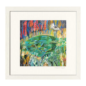 'Bridge over Pond' Print