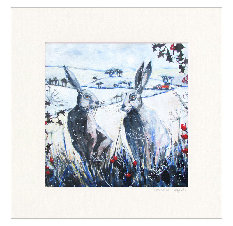 'Winter Hares'
