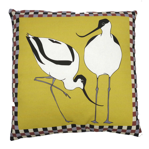 'Avocets' Cushion