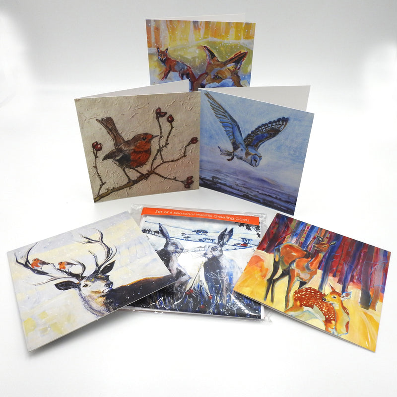 A Set of 6 'Seasonal' themed Greeting Cards