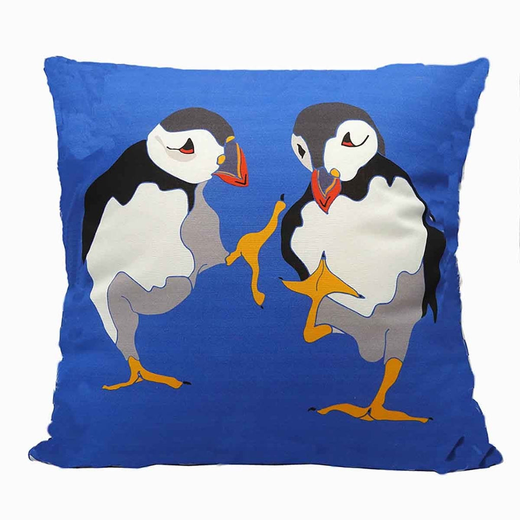 'Dancing Puffins' Cushion