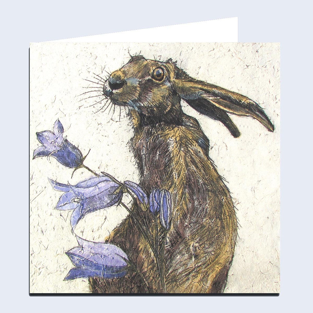 Hare with Harebell