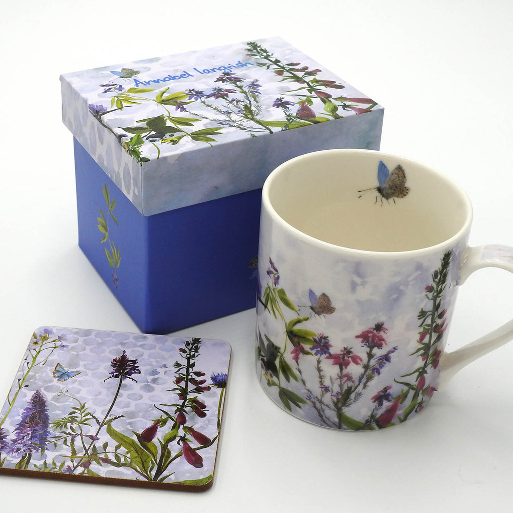 Wildflower 'The Purples' Mug and Coaster Set