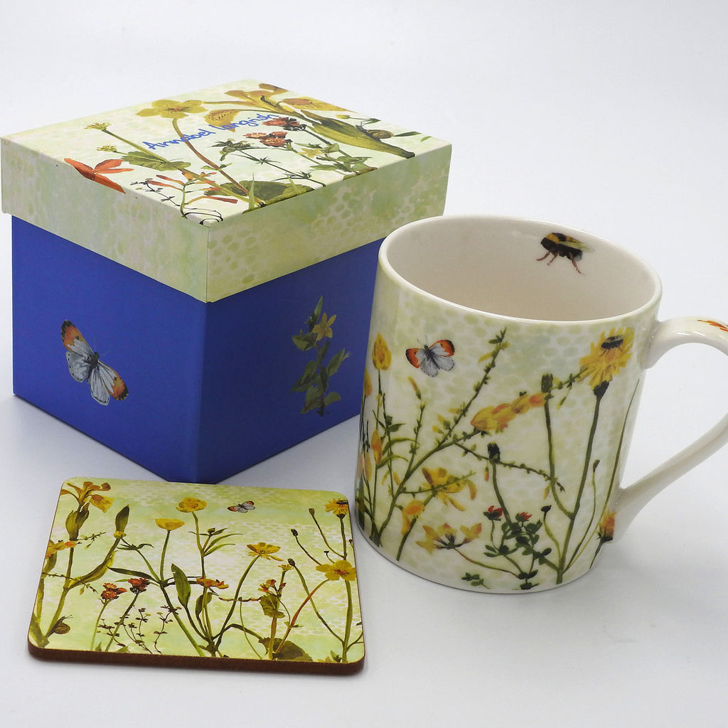 Wildflower 'The Yellows' Mug and Coaster Set