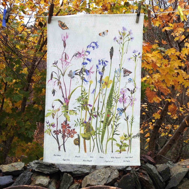 'Wildflowers' Tea Towel