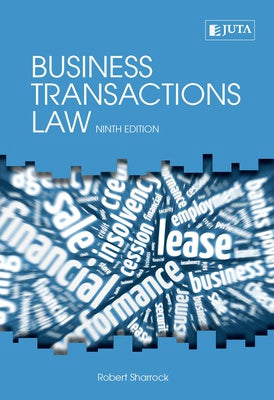 Business Transactions Law by Sharrock, R