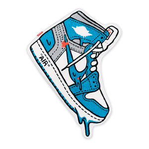 "AJ1 ""Off-White"" UNC BLUE Rug"