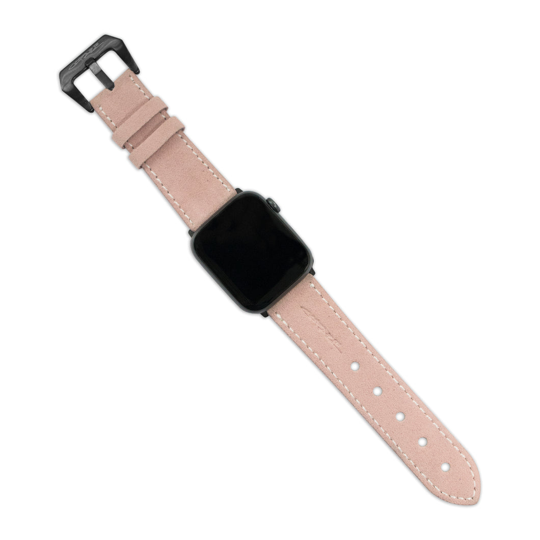 Copaze Pink Suede Leather Apple Watch Straps