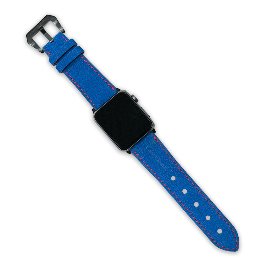 Copaze Blue Suede Leather Apple Watch Straps