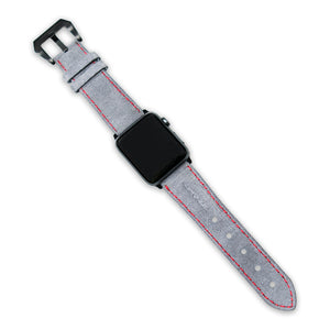 Copaze Grey Suede Leather Apple Watch Straps