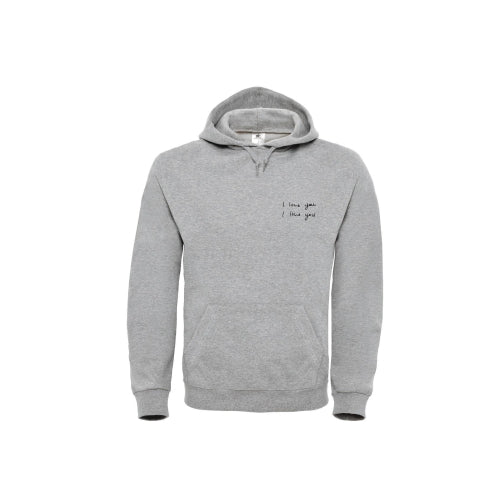 Dotan | I love you Hooded Sweater Grey
