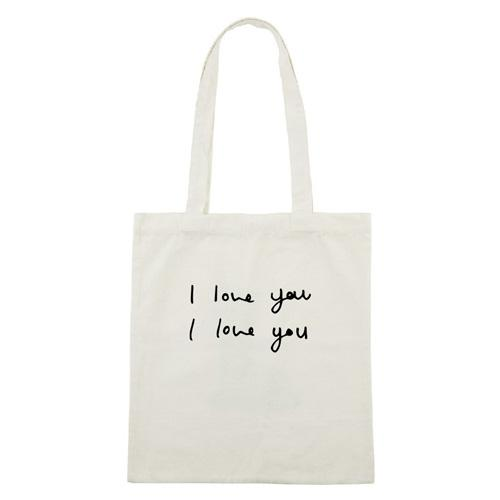 Dotan | I love you Totebag Ecru