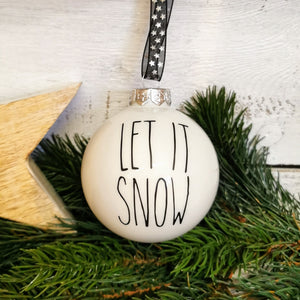 "Christbaumkugel ""Let it Snow"" ∅ 8 cm"