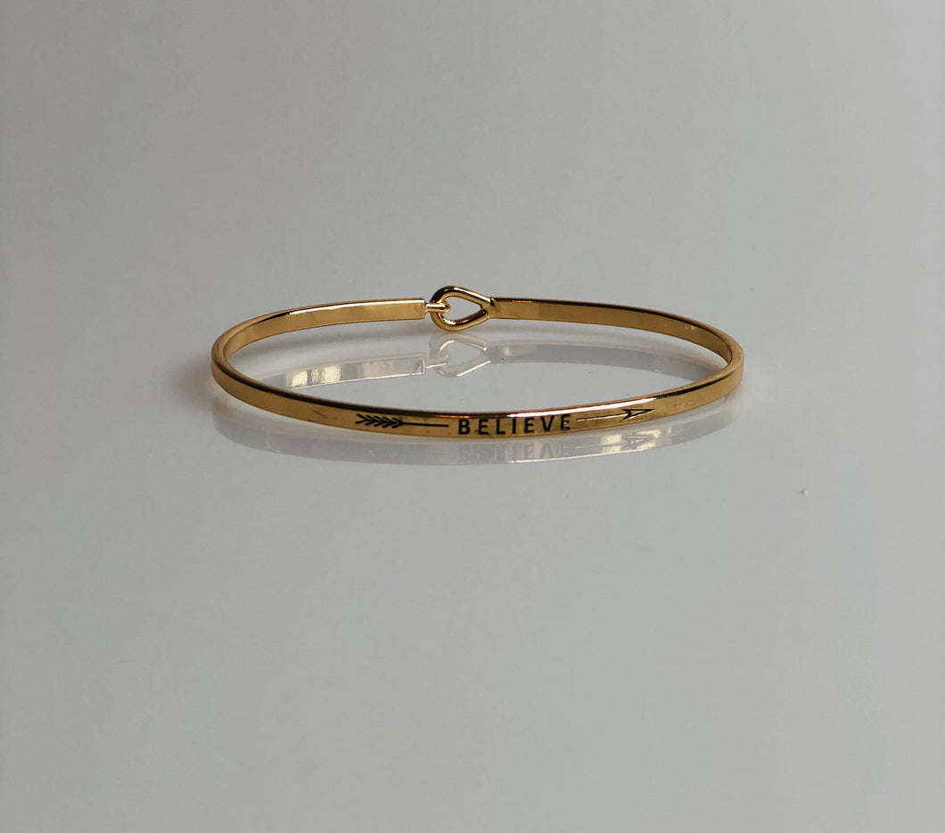 Gold, Beautiful, Bracelet, Believe