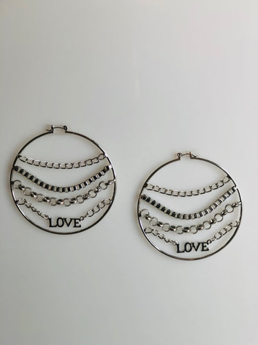 Silver Hoops, Earrings