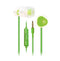 MA200 In-Ear, White/Green