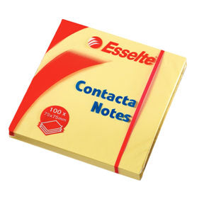 Esselte Contacta Notes 75x75mm gul