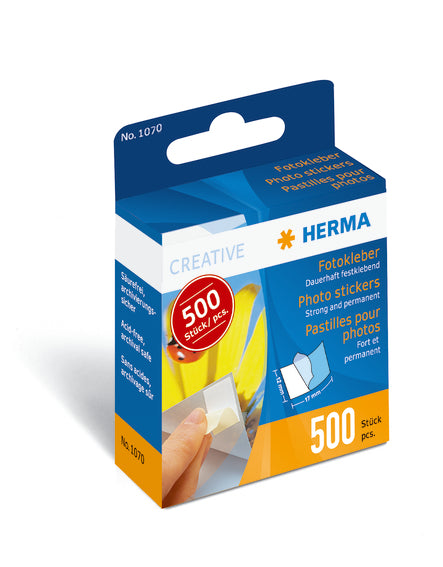 Herma Fotoetiketter i dispenser 12x17mm (500)