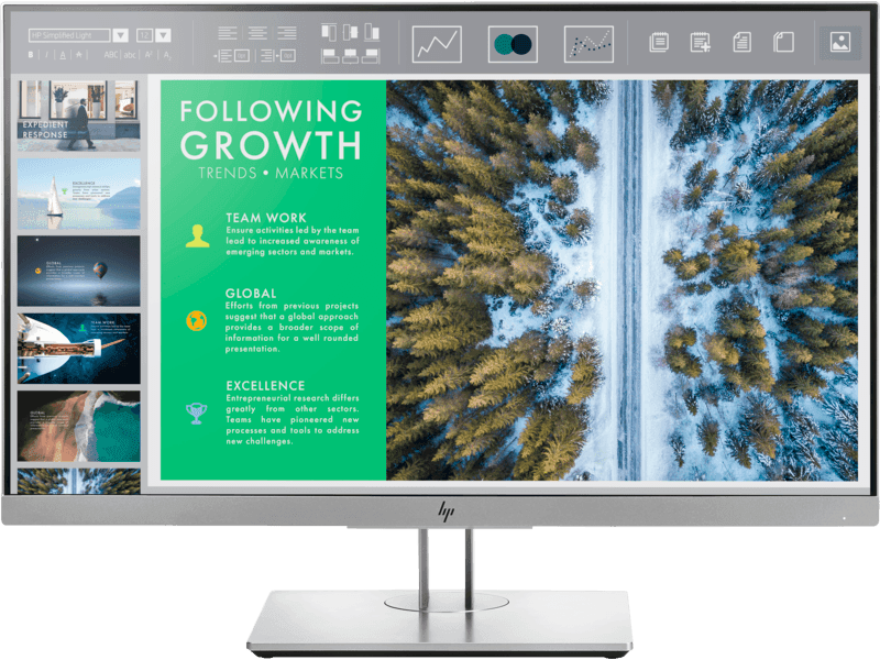 HP 23,8'' EliteDisplay E243 Monitor, Black/Silver