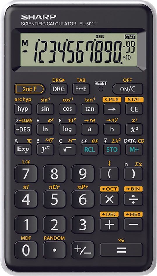Scientific Calculator SHARP EL-501TBWH, Black/White