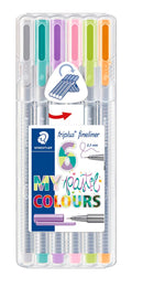 STAEDTLER Fineliner Triplus 0,30mm Pastel ass (6)