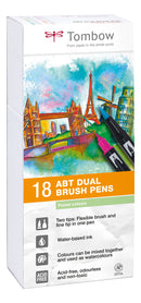 Tombow ABT Dual Brush 18P-5 Pastell farger (18)