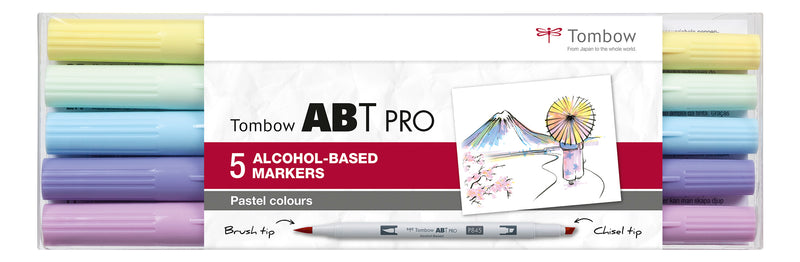 Marker alcohol ABT PRO Dual Brush 5P-2 Pastel (5)