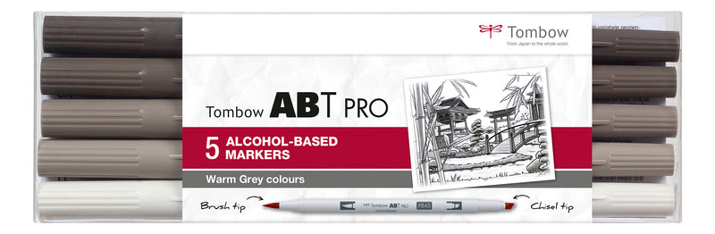 Marker alcohol ABT PRO Dual Brush 5P-3 Warm grey (5)