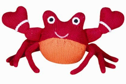 Corey the Crab Hand Knit Doll