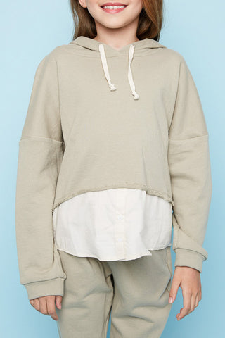 Thyme Layered French Terry Hoodie