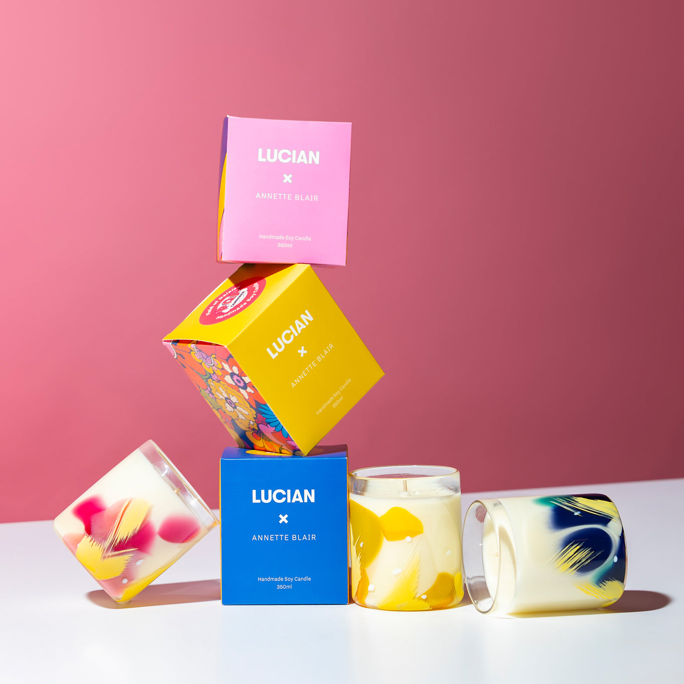 LUCIAN X Annette Blair Glass Candle - POP Canberra