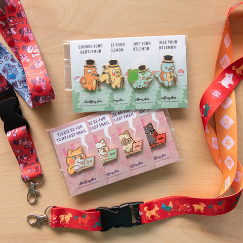 BOGO Pin set for a FREE Lanyard promo event.