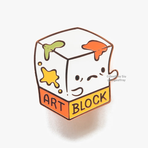 Art Block Hard Enamel Pin