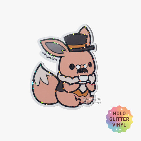 Eevee Glitter Sticker