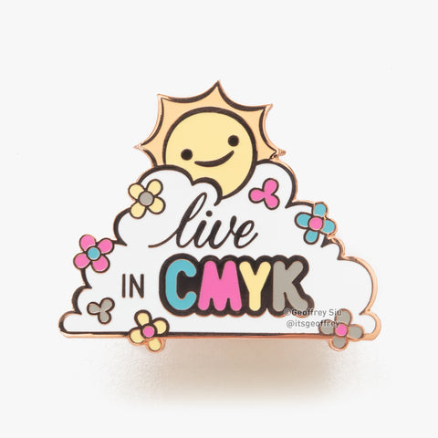 Live in CMYK Hard Enamel Pin