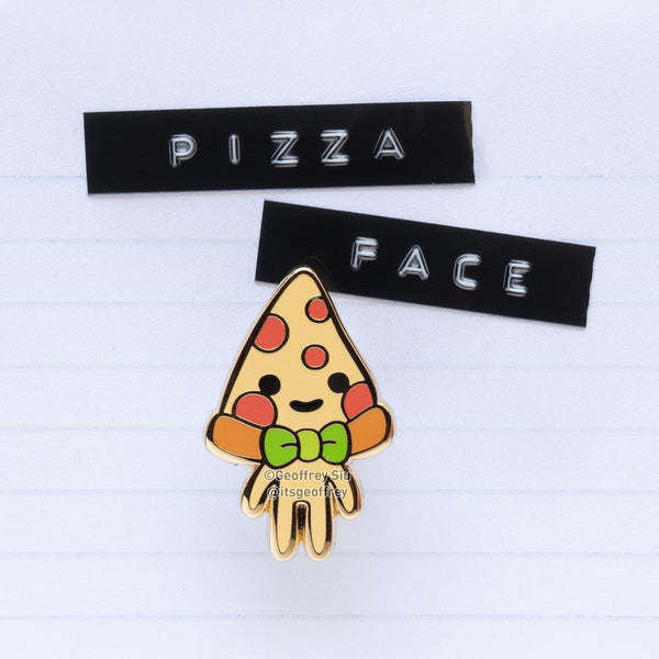 Pizza Face Hard Enamel Pin