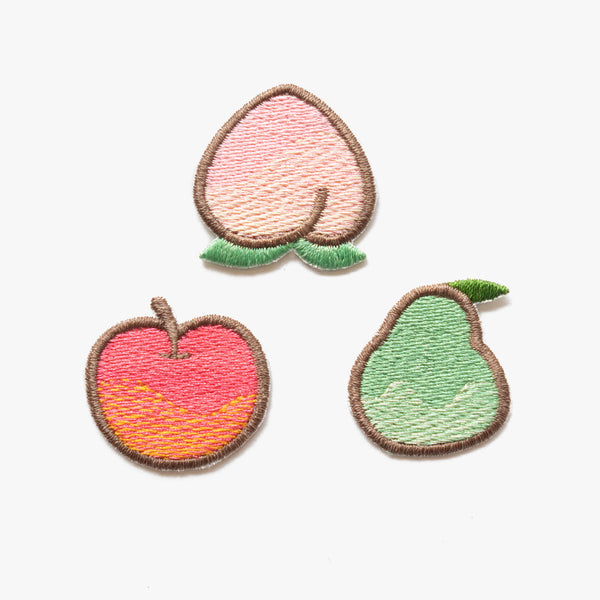 Mini Fruit Animal Crossing Embroidered Patches (Homemade)