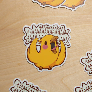 Screaming Bird Sticker