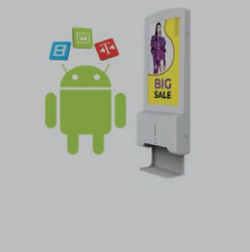 "22"" Hand Desinfectie Network Android Advertising Display"