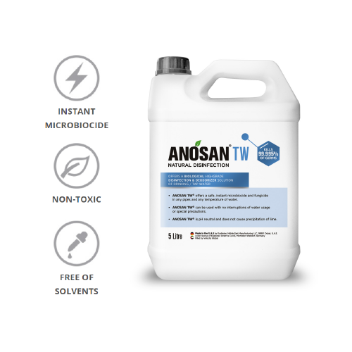 ANOSAN TW® - Eco Systemic Biological Water Disinfection 5L (1 to 6 Dilution in Water)