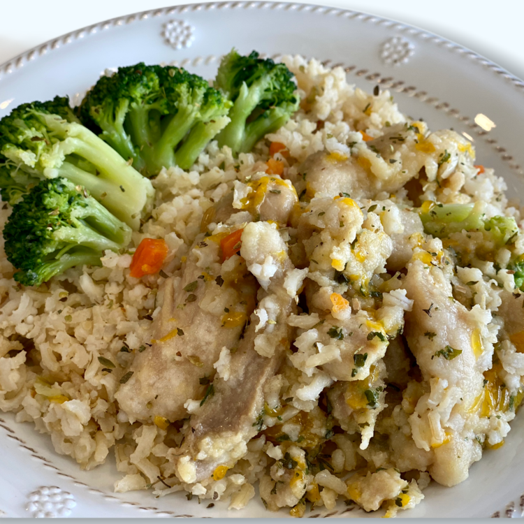 Carefree Cuisine Orange Chicken & Rice with Broccoli
