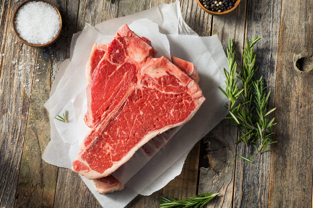 Butcher's Choice T-Bone Steak, 10 OZ Cuts, 10 LB Case, $12.87/LB