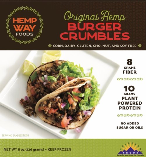 Hemp Way Foods Original Hemp Burger Crumbles, 8 OZ Case