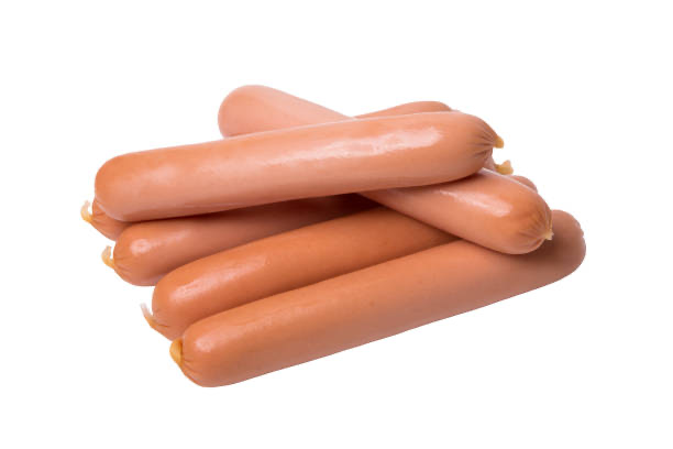 All Beef Hot Dogs, 4 per LB, 10 LB Case