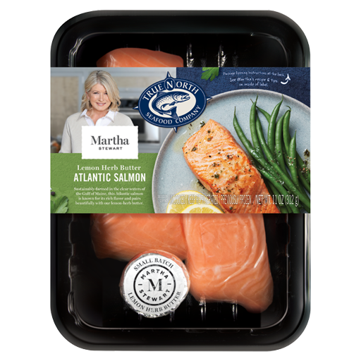 True North Seafood, Martha Stewart's Atlantic Salmon with Lemon Herb Butter