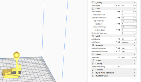 Cura settings for ABS print
