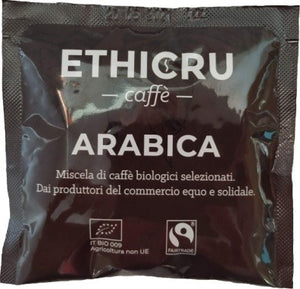 Ethicru 100% Arabica Bio Fairtrade in cialda compostabile 44 mm - standard Ese