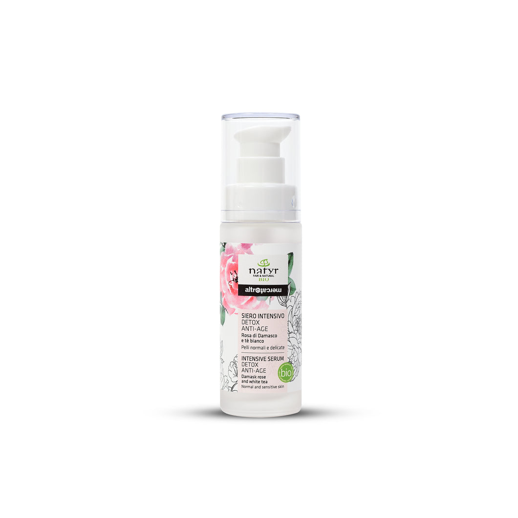 Siero intensivo - Detox - Anti age - Rosa di Damasco - Bio