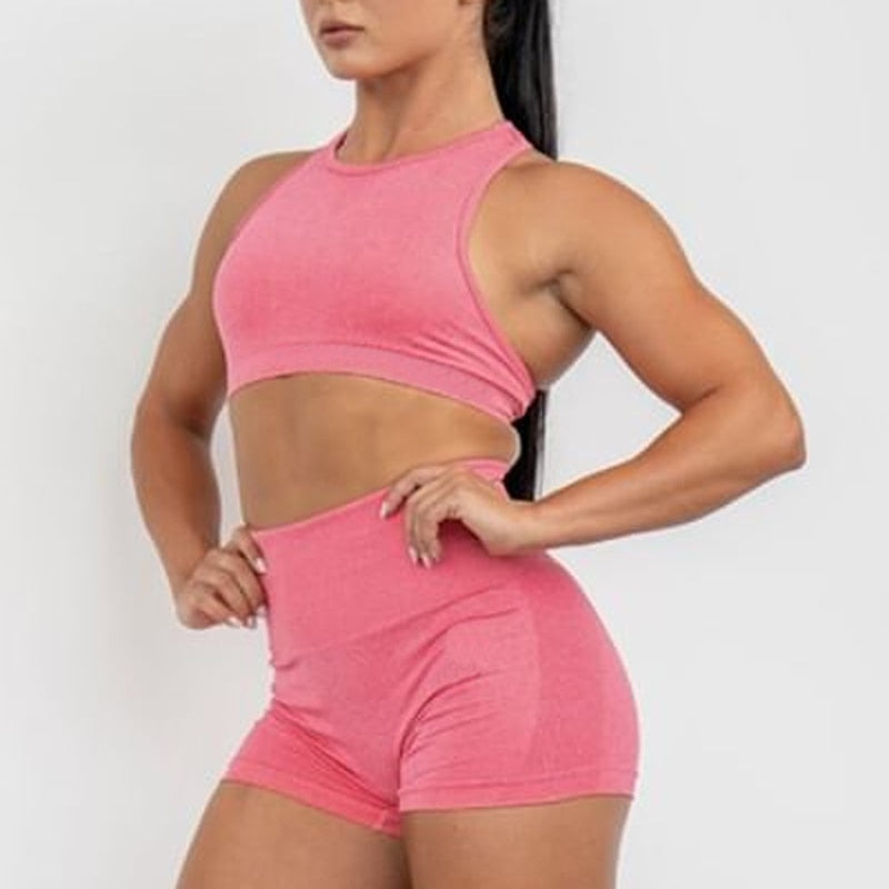 High Waist Seamless Gym Shorts