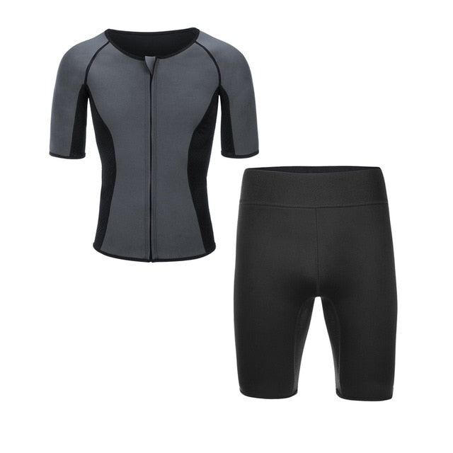 Men Neoprene Sauna T-shirt & Shorts
